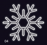 VLOČKA ŠESTIRAMENNÁ 75x75 studená bílá