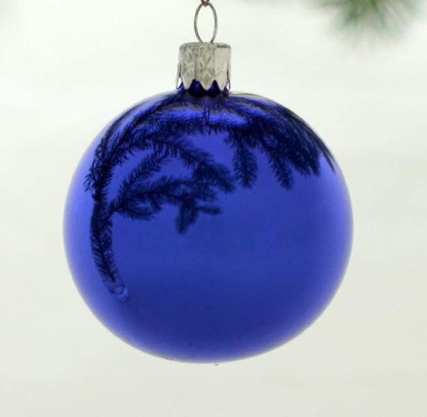 Vánoční koule modrá 15cm