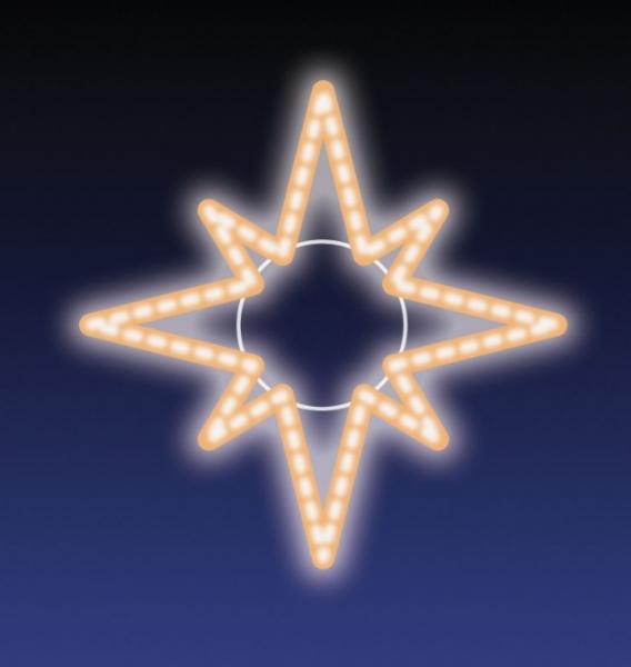 HVĚZDA LED 8W 48x48 cm teplá bílá