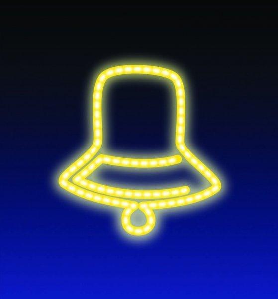 ZVONEK LED 8W 36x44 cm žlutá