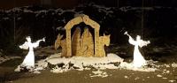 3D Anděl teplá bílá 122cm
