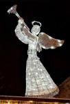 3D Anděl studená bílá 122cm