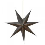 Hvězda - závěsná svítící dekorace šedá
