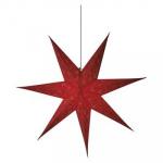 Hvězda - závěsná svítící dekorace červená