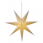 Hvězda - závěsná svítící dekorace bílá