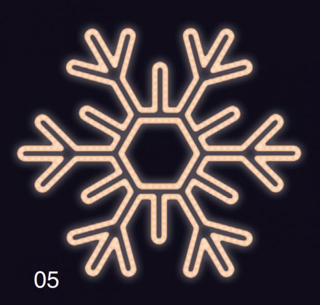 VLOČKA ŠESTIRAMENNÁ 75x75 teplá bílá
