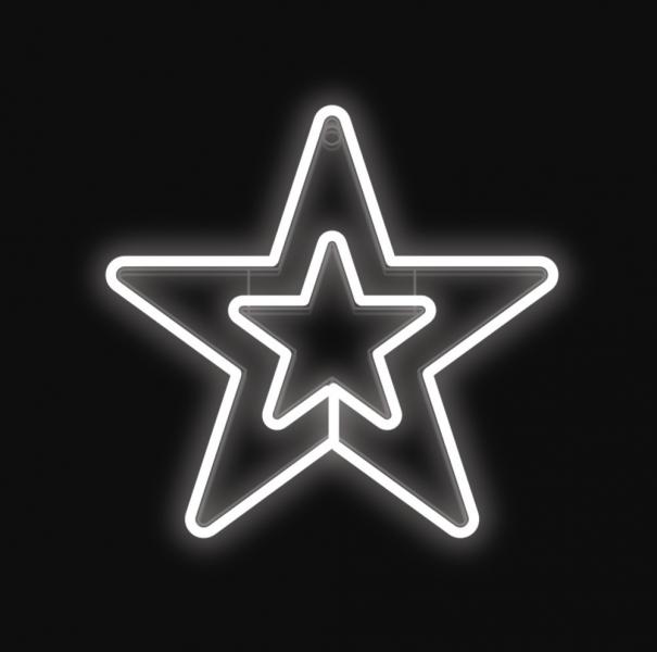 Hvězda DOUBLE svítící, studená bílá