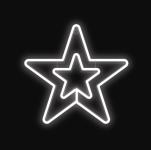 Hvězda DOUBLE svítící - studená bílá