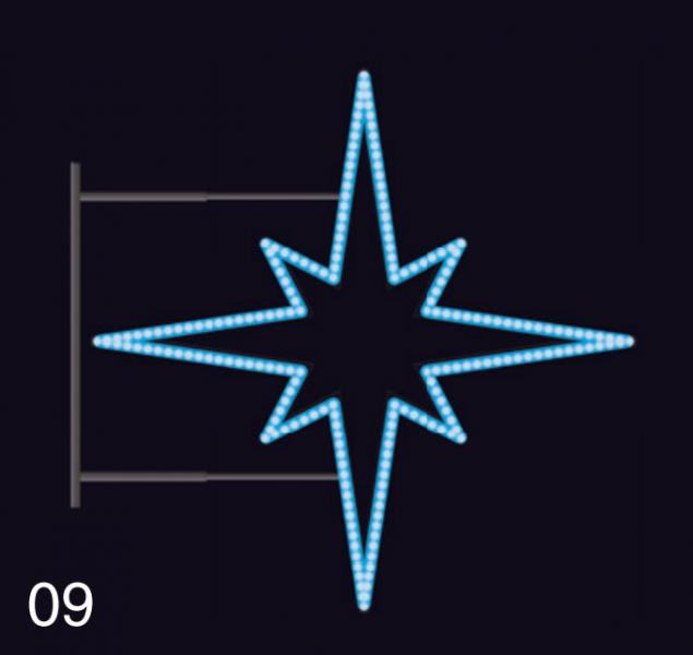 HVĚZDICE STANDARD 85x85 modrá