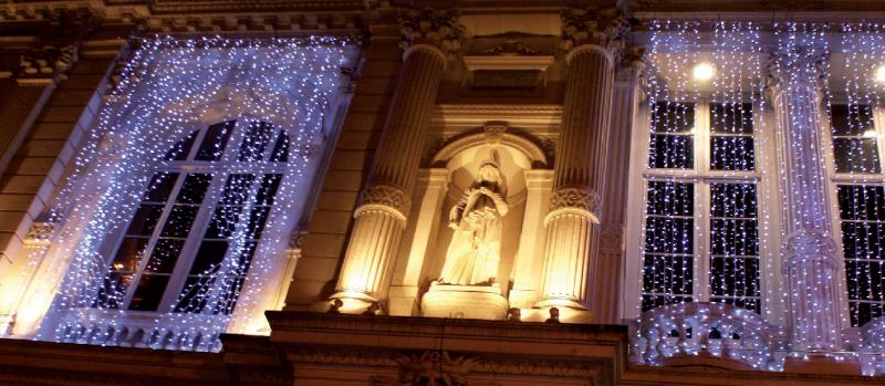 Světelný závěs MAXILEB-LED 2x3m - studená bílá