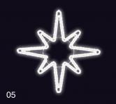 Hvězdice 80x80cm studená bílá