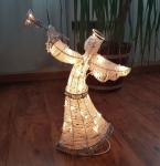 Světelný anděl 50cm, LED teple bílé, na baterie