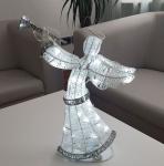 Světelný anděl 50cm, ledově bílý, na baterie