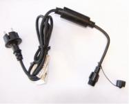 HIGH-PROFI napájecí kabel 230V ČERNÝ s AC/DC převodníkem