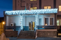 Světelné rampouchy HIGH PROFI prodlužovací + FLASH efekt, 2x0,7m 90+10 LED studená bílá