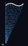 Závěs - modrá/studená bílá 0,85x2m