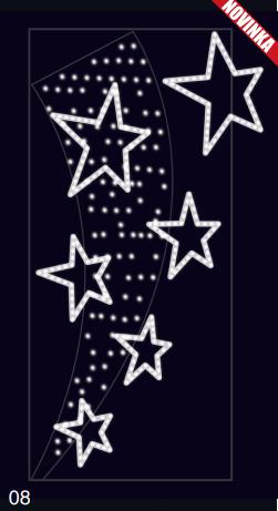Hvězdný prach - studená bílá 1,30x2,50m