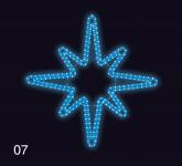 Hvězdice 80x80cm modrá