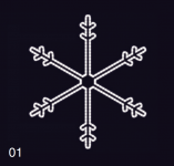 SNĚHOVÁ VLOČKA 75x75 studená bílá