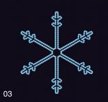 SNĚHOVÁ VLOČKA 75x75 modrá