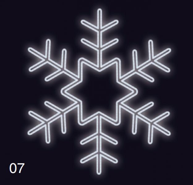 VLOČKA KRYSTAL 75x75 studená bílá