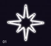 HVĚZDICE 1,2x1,2m studená bílá
