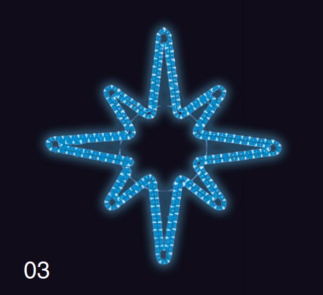 HVĚZDICE 1,2x1,2m modrá