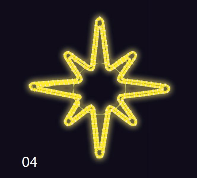 HVĚZDICE 1,2x1,2m žlutá