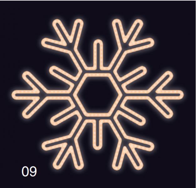 VLOČKA ŠESTIRAMENNÁ 1,2x1,2  teplá bílá