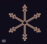 SNĚHOVÁ VLOČKA 1,15x1,05m teplá bílá