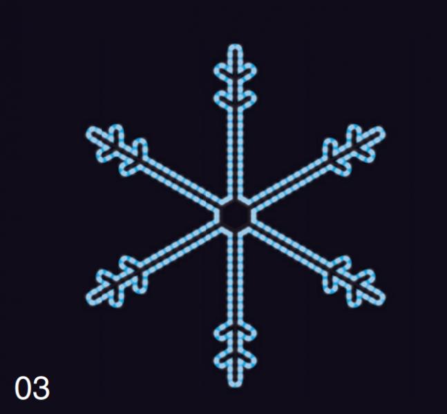 SNĚHOVÁ VLOČKA 1,15x1,05m modrá