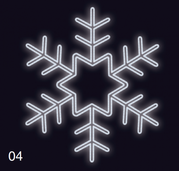 VLOČKA KRYSTAL 1,2x1,2m studená bílá