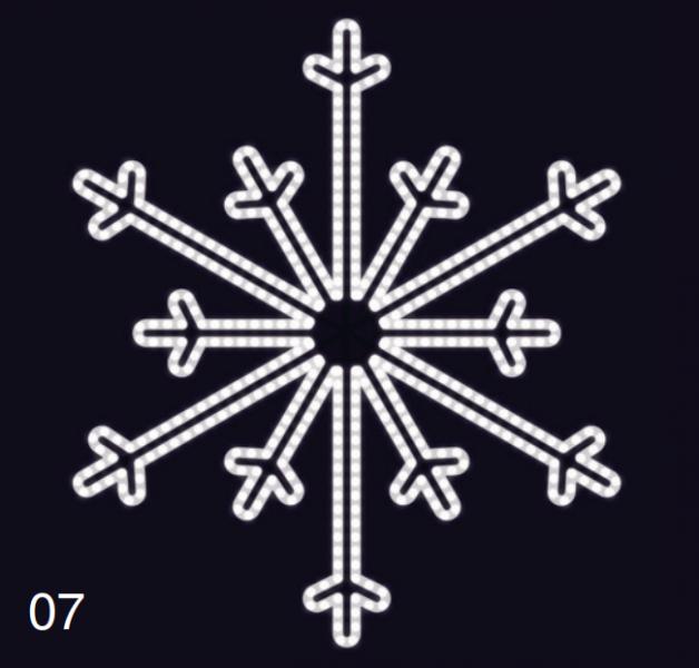 SEVERNÍ VLOČKA 1,2x1,2m studená bílá