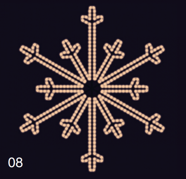SEVERNÍ VLOČKA 1,2x1,2m teplá bílá